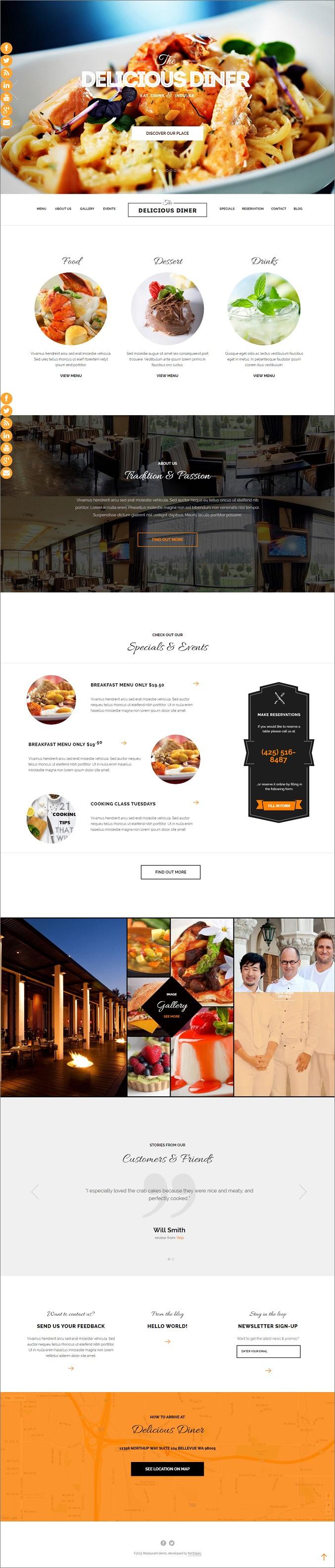 Delicious Website