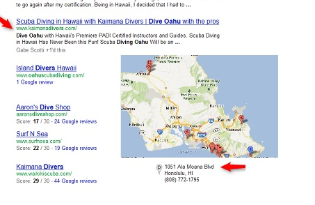 Kaimana Divers Search Ranking